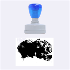 Blue Abstract No.5 Rubber Oval Stamps