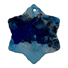 Blue Abstract No 5 Snowflake Ornament (2 Side)