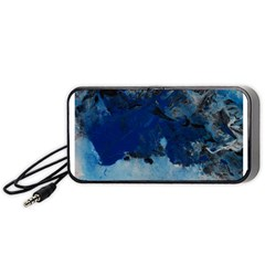 Blue Abstract No.5 Portable Speaker (Black)