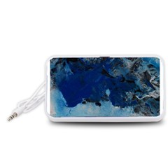 Blue Abstract No.5 Portable Speaker (White)