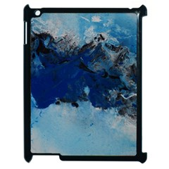 Blue Abstract No 5 Apple Ipad 2 Case (black)