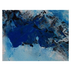 Blue Abstract No.5 Birthday Cake 3D Greeting Card (7x5)