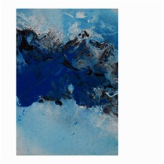 Blue Abstract No.5 Small Garden Flag (Two Sides)