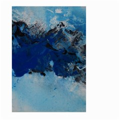Blue Abstract No 5 Large Garden Flag (two Sides)