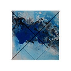 Blue Abstract No 5 Acrylic Tangram Puzzle (4  X 4 )