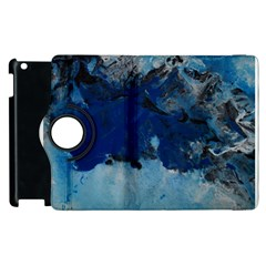 Blue Abstract No 5 Apple Ipad 3/4 Flip 360 Case