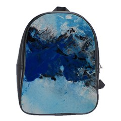 Blue Abstract No 5 School Bags (xl)