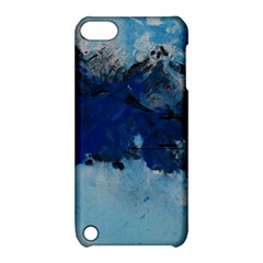 Blue Abstract No 5 Apple Ipod Touch 5 Hardshell Case With Stand