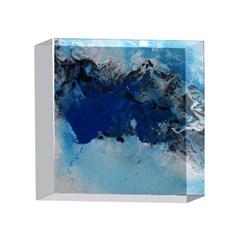 Blue Abstract No.5 4 x 4  Acrylic Photo Blocks