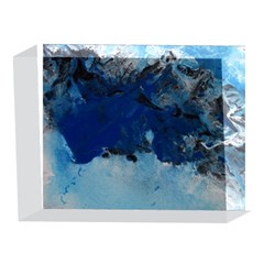 Blue Abstract No.5 5 x 7  Acrylic Photo Blocks