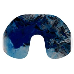 Blue Abstract No.5 Travel Neck Pillows