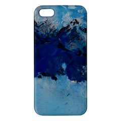 Blue Abstract No 5 Iphone 5s Premium Hardshell Case