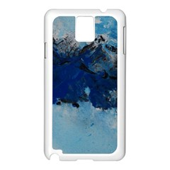 Blue Abstract No 5 Samsung Galaxy Note 3 N9005 Case (white)