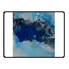 Blue Abstract No 5 Double Sided Fleece Blanket (small)