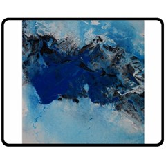 Blue Abstract No.5 Double Sided Fleece Blanket (Medium)