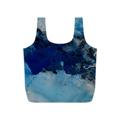 Blue Abstract No 5 Full Print Recycle Bags (s)
