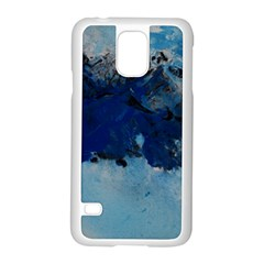 Blue Abstract No.5 Samsung Galaxy S5 Case (White)