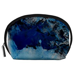 Blue Abstract No 5 Accessory Pouches (large)