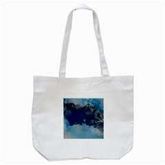 Blue Abstract No 5 Tote Bag (white)