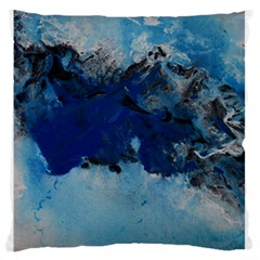 Blue Abstract No 5 Standard Flano Cushion Cases (one Side)