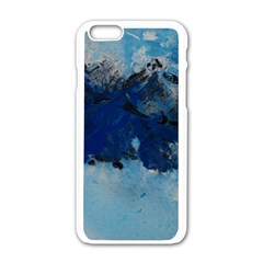 Blue Abstract No.5 Apple iPhone 6 White Enamel Case