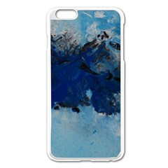 Blue Abstract No 5 Apple Iphone 6 Plus Enamel White Case