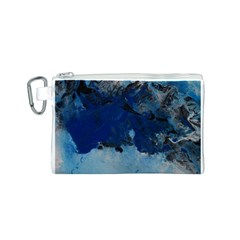 Blue Abstract No.5 Canvas Cosmetic Bag (S)