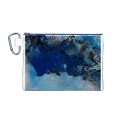 Blue Abstract No.5 Canvas Cosmetic Bag (M)