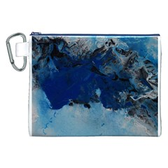 Blue Abstract No.5 Canvas Cosmetic Bag (XXL)