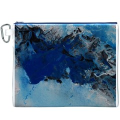 Blue Abstract No.5 Canvas Cosmetic Bag (XXXL)