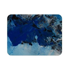Blue Abstract No.5 Double Sided Flano Blanket (Mini)