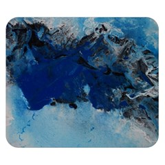 Blue Abstract No 5 Double Sided Flano Blanket (small)
