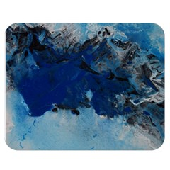 Blue Abstract No.5 Double Sided Flano Blanket (Medium)