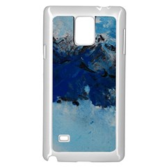 Blue Abstract No.5 Samsung Galaxy Note 4 Case (White)