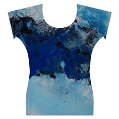 Blue Abstract No.5 Women s Cap Sleeve Top