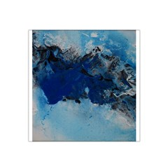 Blue Abstract No 5 Satin Bandana Scarf