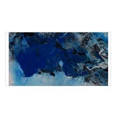 Blue Abstract No 5 Satin Shawl