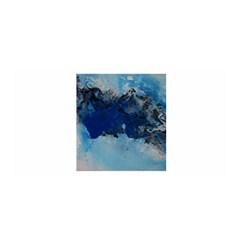 Blue Abstract No.5 Satin Wrap