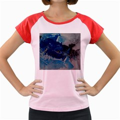 Blue Abstract No. 6 Women s Cap Sleeve T-Shirt