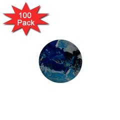 Blue Abstract No  6 1  Mini Buttons (100 Pack)