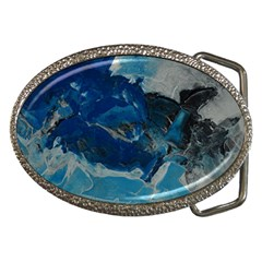 Blue Abstract No. 6 Belt Buckles