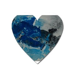 Blue Abstract No  6 Heart Magnet