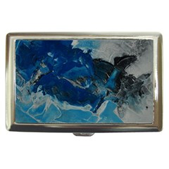 Blue Abstract No  6 Cigarette Money Cases