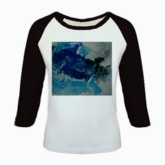 Blue Abstract No. 6 Kids Baseball Jerseys
