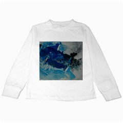 Blue Abstract No  6 Kids Long Sleeve T Shirts