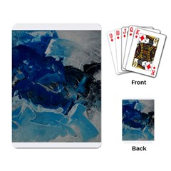 Blue Abstract No  6 Playing Card