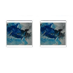 Blue Abstract No  6 Cufflinks (square)