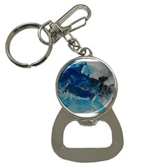 Blue Abstract No  6 Bottle Opener Key Chains
