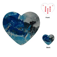 Blue Abstract No. 6 Playing Cards (Heart)