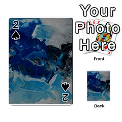 Blue Abstract No. 6 Playing Cards 54 Designs